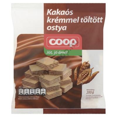 COOP KAKAÓKRÉMMEL TÖLTÖTT OSTYA 200G