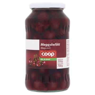 COOP MEGGYBEFŐTT MAGOZOTT 700G/ 350G